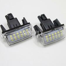 New 2Pcs 18-SMD LED Number-Plate Light For Toyota Camry 2013 2014 2015