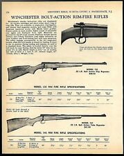 1969 WINCHESTER Model 131 & 141 Bolt Action Rim Fire Rifle AD