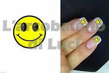 20 ADESIVI UNGHIE NAILS STICKERS FACCINA EMOTICON SMILE NAIL ART DECORAZIONE