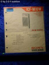 Sony Service Manual ICF M10W (#2686)