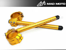 MAD MOTO Ø43mm-HANDLEBAR HANDLE BARS CLIP ON ONS YAMAHA R6 HONDA CBR600 gold