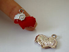 5 red sheep charms pendant enamel UK wholesale