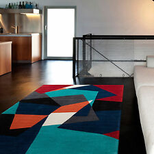 Hand-tufted Abstract Geometric Contemporary Area Rug (5' x 8')