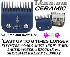 TITANIUM CERAMIC 4 SKIP BLADE*Fit Oster A5/A6,Most Andis Clipper Pet GROOMING