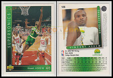NBA UPPER DECK 1993/94 - Vincent Askew # 126 - Supersonics - Ita/Eng - MINT