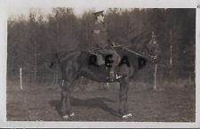 WW1 soldier Sergeant Percy Dunning mounted on his horse