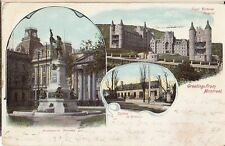 Greetings From Montreal Quebec Prelinen Postcard 1902 Good