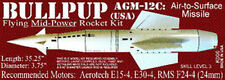 BULLPUP AGM-12C MISSILE FLYING MODEL ROCKET *THE LAUNCH PAD #K006 SKILL LEVEL 3