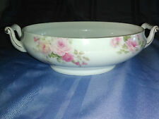Vintage Thomas Sevres Bavaria Vegetable dish pink roses gold trim