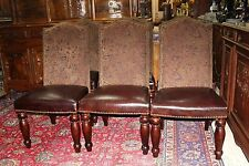 Set of 6 French Country Style Mahogany Upholstered Dining Chairs - New
