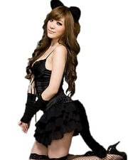 Cat Fox Costume Fancy Dress Women Sexy Lingerie Underwear Nightwear Babydoll New