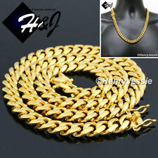 "24""MEN Stainless Steel HEAVY 12mm Gold Miami Cuban Curb Link Chain Necklace*N154"