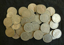 Bulk Lot Of 40 Clean Shillings Pre-Decimal For Vintage Slot Machines etc