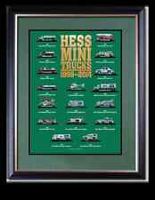 2014 Hess Mini Toy Truck Limited Edition Collector's Poster: FREE SHIPPING!