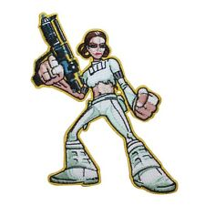 Padme Amidala with Blaster Queen Star Wars Embroidered Iron On Applique Patch