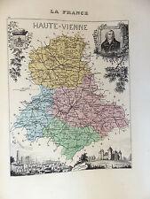 LA FRANCE ET SES COLONIES DÉPARTEMENT DE LA HAUTE VIENNE EDT 1874 VOIR DETAIL