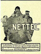 """Camerawerk Sontheim a. Neckar"""" NETTEL"""" UNIVERSAL-CAMERA Historische Reklame 1908"""