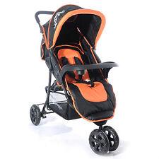 3-Rad-Buggy-S3-Jogger-Kinderwagen-Sportwagen-Kindersportwagen-Farbe-Orange-Neu