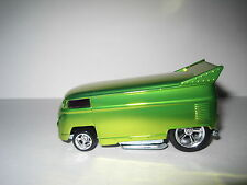 Hot Wheels VW Drag Bus Spectra Flame Green Real Riders RA Custom 1 of 1