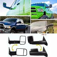 2 Tow Mirrors Power Heated Led Signal for 02-08 Dodge Ram 1500 03-09 2500 3500