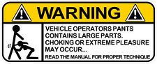 WARNING DECAL CHOKING HAZZARD BLOW JOB SIZE 100MM BY 40MM GLOSS LAMINATED