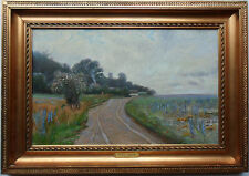 OLAF VIGGO PETER LANGER 1860-1942 FINE LARGE SIGNED OIL ON CANVAS DATED 1916