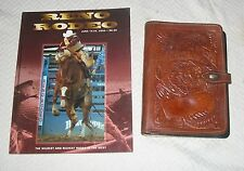 RENO HORSE RODEO SOUVENIR TOOLED LEATHER BOOK GLASER SADDLE ROSEHILL CALIFORNIA