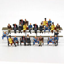 P4803 24 pcs All Seated Figures O scale 1:48 Painted People Model Railway NEW