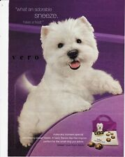 CESAR dog food 2009 WESTIE west highland terrier ad print art photo clipping