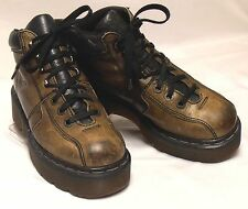 DR DOC MARTENS 8346 MIE Womens Size 7 (UK5) M Brown Leather Lace-Up Ankle Boots