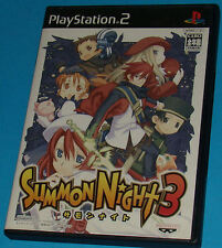 Summon Night 3 - Sony Playstation 2 PS2 Japan - JAP