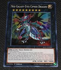 Neo Galaxy-Eyes Cipher Dragon RATE-EN049 Super Rare Yugioh Card NEAR MINT