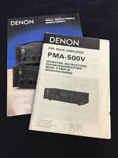 Denon PMA-500V Integrated Amplifier Original Owners Manual & PMA Color Brochure