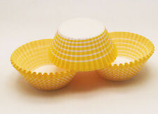 48 Yellow & White Stripe Carnival Standard Size Cupcake Liners Baking Cups