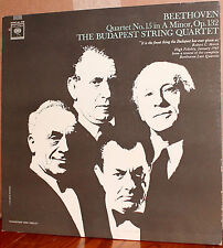 COLUMBIA 2-EYE LP ML 5786: BEETHOVEN - Quartet No. 15 - BUDAPEST STRING Quartet