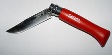 1x couteau OPINEL ROUGE 8 INOX stainless steel knife manche hetre red