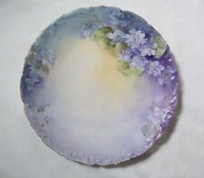 Hand Painted T&V, Tressemanes & Vogt, Limoges, France Wisteria Plate Gold Edging