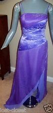 Maggie Sottero Purple High Low Spaghetti Formal Gown Prom Dress Size 6 @ cLOSeT