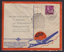 1937 Batavia Netherlands Indies 500th KLM Flight Airmail Cover Amsterdam Radio