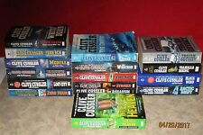Lot of 16 Paperback ACTION/ADVENTURE Books By Clive Cussler