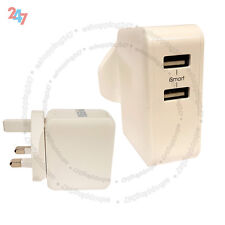2 Port 12W 0A-2.4A Fast Multi USB Wall Charger UK Plug Power Adapter S247
