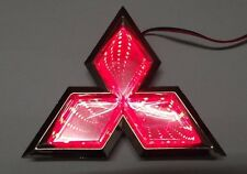 Red Car 3D LED LOGO lights emblem badge sticker Lamp for Mitsubishi Lancer