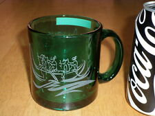 PACIFIC OCEAN- HAWAII ISLANDERS IN THEIR CANOE, GREEN GLASS 3-D IMAGE Coffee Cup