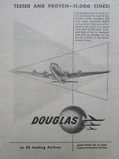 9/1946 PUB DOUGLAS AIRCRAFT DC AIRLINER AIRLINES / REID DESFORD ORIGINAL AD