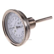 "1/2"" NPT Stainless Steel Thermometer for  Brew Pot Moonshine Still Condenser Hot"
