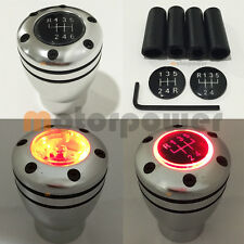 JDM Manual Transmission RED LED Light Silver Sport Gear Stick #Gr23 Shift Knob