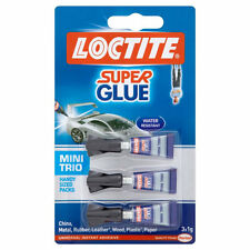 Super Glue- Loctite 3x 1g- Mini Trio Extra Strong Adhesive- Handy Sized Pack