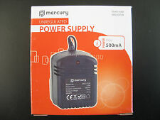 AC/AC MAINS POWER ADAPTOR/SUPPLY/CHARGER/TRANSFORMER 500MA/0.5 AMP 9 VOLT OUTPUT