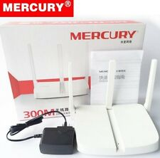 Mercury 300M 802.11N Wireless Router Triple Antenna Good WiFi Reception w/ Cable