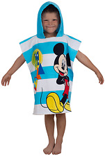 DISNEY MICKEY MOUSE BOO HOODED PONCHO TOWEL FOR CHILDREN KIDS BOYS 100% COTTON